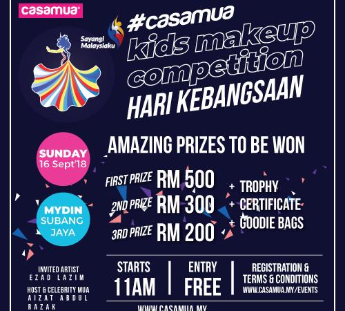 Casamua Kids Makeup Competition Hari Kebangsaan 2018